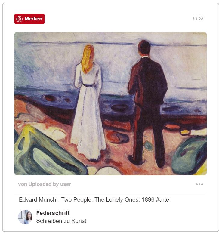 Edvard Munch - Die Einsamen