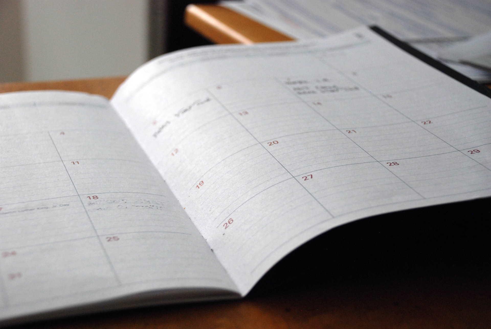 Monatsübersicht Kalender